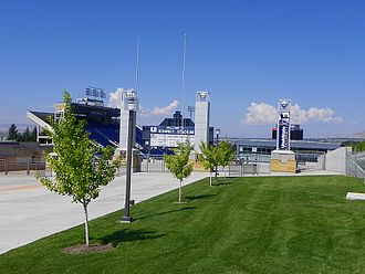Utah State Aggies - Romney Stadium from outside the south entrance
