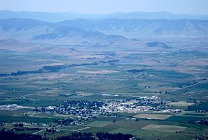 Ronan, Montana - Ronan, Montana as seen from the Mission Mountains in the summer of 2009.