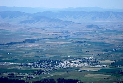Ronan, Montana as seen from the Mission Mountains in the summer of 2009.
