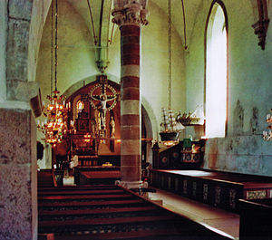 Rone Church - Interior view towards the choir