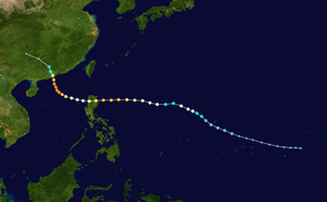 Typhoon Rose (1971) - Image: Rose 1971 track