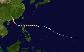 Typhoon Rose (1971) - Image: Rose 1971 track