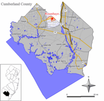 Map of Rosenhayn CDP in Cumberland County