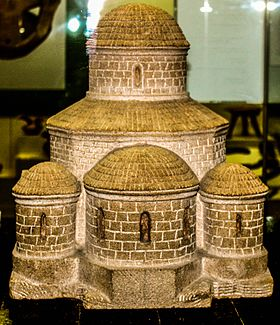 Round church in Mamrukh model in Azerbaijan History Museum.JPG