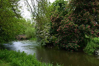 Rousham House - The river Cherwell