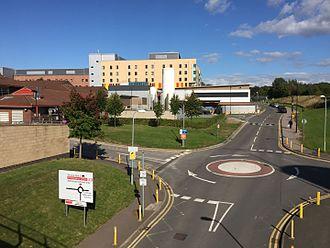 Keele University School of Medicine - Royal Stoke University Hospital - View over Footbridge