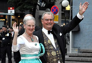 Margrethe II of Denmark - Queen Margrethe II and her consort, Prince Henrik, in 2010.