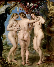 RUBENS Peter Paul The Three Graces ca. 1635