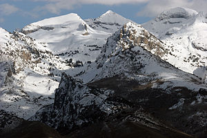 Ruby Mountains - Highest Peaks with Ruby Dome on right, photo from Spring Creek