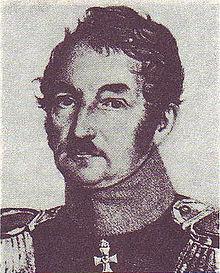 Johann Jakob Otto August Rühle von Lilienstern (1780–1847) zeitgenössische Lithographie (Quelle: Wikimedia)