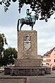 Ruiterstandbeeld van de grote keurvorst Frederik I door Peter Breuer in Kleve. Opgericht ter ere van de 300ste verjaardag van de opname van Kleef in het keurvorstendom van Brandenburg, en onthuld op 9 augustus 1909 door keizer Willem II.jpg