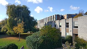University of Kent - Overlooking the main Library from Rutherford Extension.