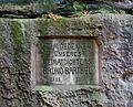 Sächsische Schweiz, Uttewalder Grund - Gedenktafel für Bruno Barthel (1885-1956).JPG