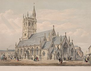 S. E. View of the Church of St. Thomas, Newport