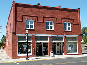 National Register of Historic Places listings in Gilliam County, Oregon - Image: SB Barker Building Condon Oregon