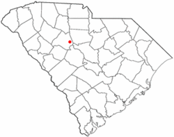 Location of Pomaria, South Carolina