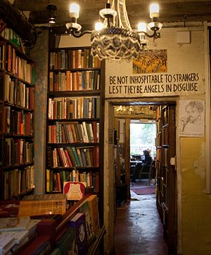 Shakespeare and Company (bookstore) - Shakespeare and Company, Entrance to Reading Library, 2015