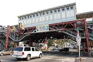 63rd Street station (Market–Frankford Line) - Image: SEPTA63rd Street Station Exterior 2007