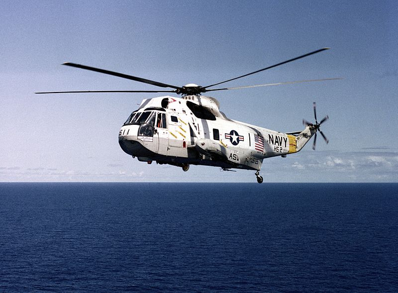 File:SH-3H Sea King HS-2 in flight in 1983.JPEG