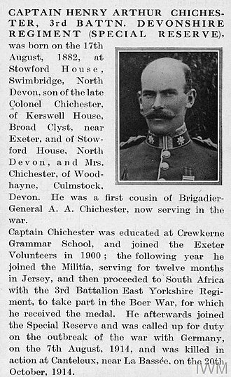 Special Reserve - Special Reserve officer memorialised in the book Bond of Sacrifice, published in 1917. The biographical details demonstrate how the provenance of the Special Reserve was rooted in the former auxiliary institutions.
