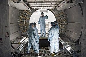 Raffaello MPLM - The STS-135 crew inspects Raffaello.
