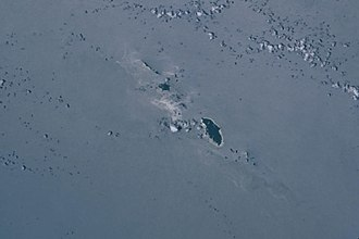 Duff Islands - The Duff Islands seen from space.