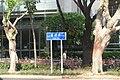 SZ 深圳 Shenzhen 福田 Futian 益田路 Yitian Road blue sign n tree trunks October 2017 IX1.jpg