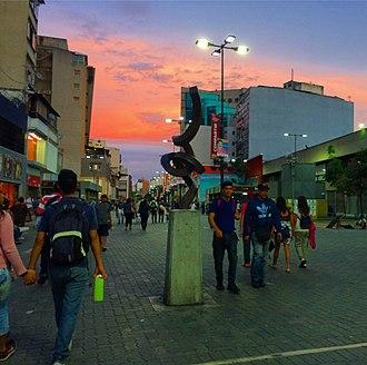 Boulevard of Sabana Grande - Artwork Anemoi, located in the heart of the boulevard of Sabana Grandein Caracas