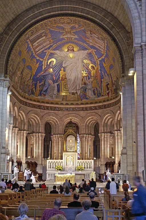 Sacre Coeur - Choeur, Abside et Mosaique