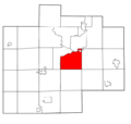 Saginaw County Michigan townships Spaulding highlighted.png