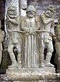 Saint-Thégonnec-126-Calvaire-Misshandlung Jesu-Figuren-1978-gje.jpg