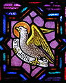 Saint Bernard Catholic Church (Corning, Ohio) - stained glass, Eagle of St. John.jpg