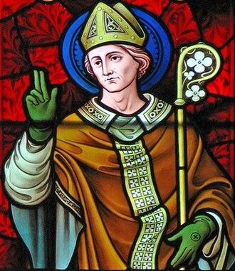 Birinus - Stained glass window of Birinus at Dorchester Abbey