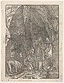 Saint Jerome in Penitence, in a Cave, from Holzschnitte alter deutscher Meister in den Original-Platten gesammelt von Hans Albrecht von Derschau MET DP833040.jpg