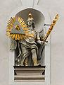 Saint Michael statue Dreifaltigskeitkirche Munich.jpg