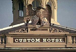 Dudley Leavitt Pickman - Salem Custom House, Salem, Massachusetts. First place of employment of supercargo Dudley Leavitt Pickman