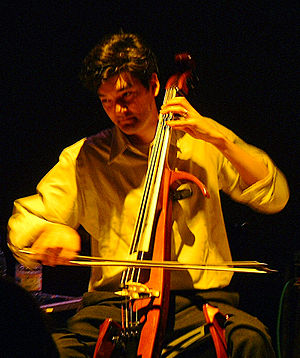 Sam Davol - Sam Davol playing with The Magnetic Fields in 2001