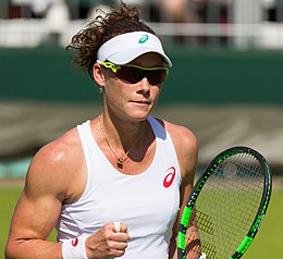 Samantha Stosur  - 2018 Light brown hair & bob hair style.