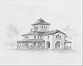 Samuel F. B. Morse House, Poughkeepsie, New York (perspective and plan) MET MM56545.jpg