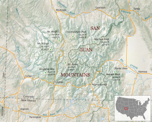 san jauns mountain map
