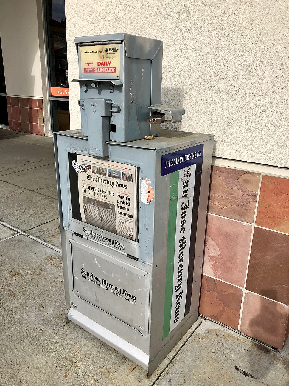 San Jose Mercury News vending machine
