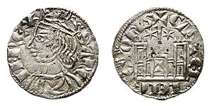 Cornado - Cornado minted in Toledo during the reign of Sancho IV of Castile (1284–1295)