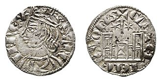 Cornado - Cornado minted in Toledo during the reign of Sancho IV of Castile (1284–1295)
