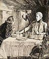 Sandels han satt i Pardala by, Åt frukost i allsköns ro - teckning av Albert Edelfelt.jpg