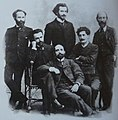 Sandro Gabunia, Commando Gogelia, Varlam Cherkezishvili, sitting in Archil Jorjadze, Mikheil Tsereteli, in the middle of George dekanozishvili, photographer D. Ermakovi.jpg