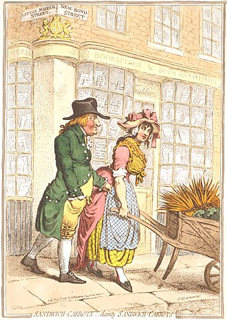 John Montagu, 5th Earl of Sandwich - Image: Sandwich Carrots Gillray