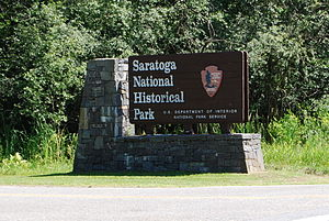Saratoga National Historical Park - Image: Saratoga Historic Park Sign