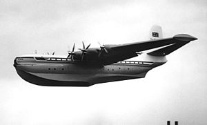 Saunders-Roe - Saunders-Roe Princess G-ALUN displaying at the Farnborough SBAC Show in September 1953