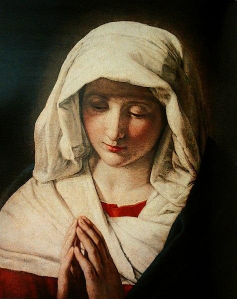 > Musée de Wilanow à Varsovie : Toile de Marie en prière de Giovanni Battista Salvi da Sassoferrato.