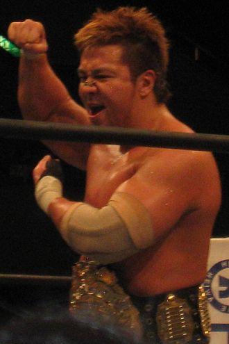 Satoshi Kojima - Kojima as the IWGP Heavyweight Champion in December 2010